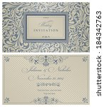 wedding invitation cards ...   Shutterstock .eps vector #184342763
