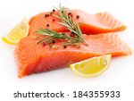 Red Fish Isolated On White...