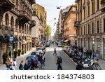 milan  italy   mar 29  2014 ... | Shutterstock . vector #184374803