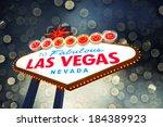 welcome to las vegas neon sign | Shutterstock . vector #184389923