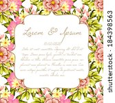 wedding invitation cards with... | Shutterstock .eps vector #184398563