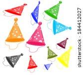 helmet party in different... | Shutterstock .eps vector #184412027