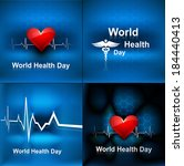 world health day collection set ...   Shutterstock .eps vector #184440413