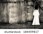 horror scene of a scary woman | Shutterstock . vector #184459817