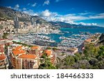panoramic view of monte carlo... | Shutterstock . vector #184466333