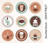 vintage collection of vector... | Shutterstock .eps vector #184479827