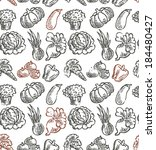 vegetable pattern | Shutterstock .eps vector #184480427
