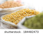 corn seeds and other grains in... | Shutterstock . vector #184482473