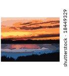 Lake Scene Sunset