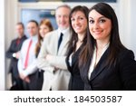 portrait of a group of smiling... | Shutterstock . vector #184503587