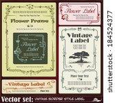 border style labels on... | Shutterstock .eps vector #184524377