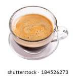 glass cup of espresso coffee... | Shutterstock . vector #184526273