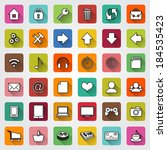 vector set of colored square... | Shutterstock .eps vector #184535423