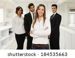image of businesswoman leader...   Shutterstock . vector #184535663