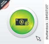cash sign icon. dollar money...