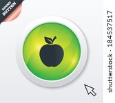 apple sign icon. fruit with...