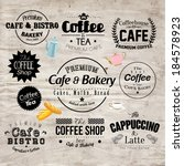 retro typography coffee and... | Shutterstock .eps vector #184578923