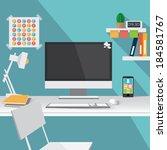 flat design vector illustration ... | Shutterstock .eps vector #184581767