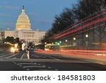 the u.s. capitol building night ... | Shutterstock . vector #184581803
