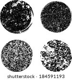 set of grunge circles. vector...   Shutterstock .eps vector #184591193
