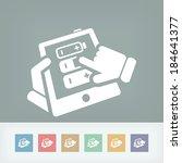 battery level touchscreen | Shutterstock .eps vector #184641377