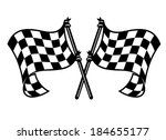 black and white checkered motor ... | Shutterstock .eps vector #184655177