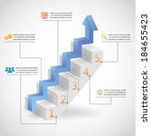 success steps concept arrow and ... | Shutterstock .eps vector #184655423