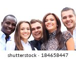 happy smiling multi ethnic... | Shutterstock . vector #184658447