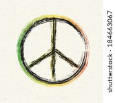 peace symbol created | Shutterstock .eps vector #184663067