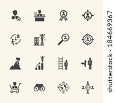 business management icons | Shutterstock .eps vector #184669367
