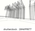 abstract architecture | Shutterstock . vector #184699877