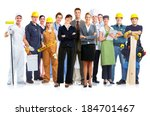 group of workers people.... | Shutterstock . vector #184701467