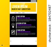 web site template on bright...