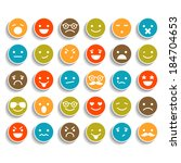 set of color smiley icons  | Shutterstock .eps vector #184704653