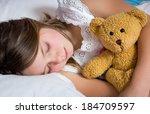 portrait of a little girl... | Shutterstock . vector #184709597
