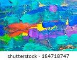 abstract art background. hand... | Shutterstock . vector #184718747