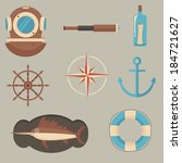 marine icons | Shutterstock .eps vector #184721627