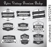 collection of premium quality... | Shutterstock .eps vector #184722293