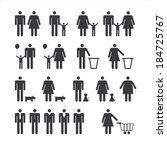 people icons set | Shutterstock .eps vector #184725767