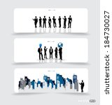business people silhouettes on... | Shutterstock .eps vector #184730027