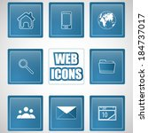 vector icons set vector... | Shutterstock .eps vector #184737017