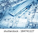 industrial drawing detail and... | Shutterstock . vector #184741127