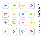 colorful arrow icon set... | Shutterstock .eps vector #184743413