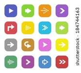 set collection of arrow icons | Shutterstock .eps vector #184744163
