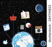 abstract modern global... | Shutterstock .eps vector #184744823