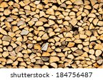 Stack Of Chopped Firewood...