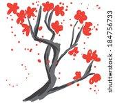 spring blossoms background   ... | Shutterstock .eps vector #184756733