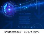 blue techno background | Shutterstock .eps vector #184757093
