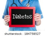diabetes  physician with... | Shutterstock . vector #184758527