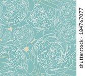 pattern floral seamless  eps 10 | Shutterstock .eps vector #184767077